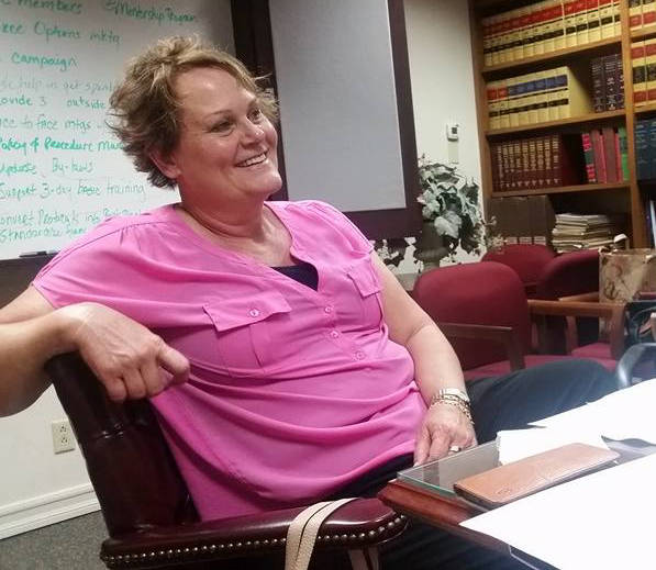 Tracy McKenney at a CDSOC planning meeting in 2016 prior to her illness. Photo: Leslee Newman