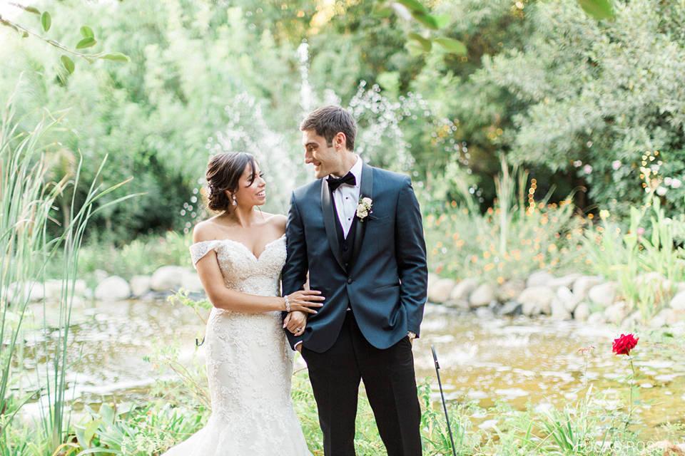 Los Angeles Outdoor Wedding at Eden Gardens Bride and Groom Smiling