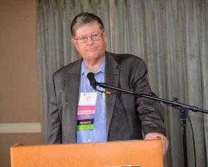 John Denny speaks to delegates at the 2017 Collaborative Practice California conference. Photo: David Kuroda