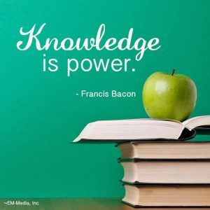 Quote Knowledge is Power