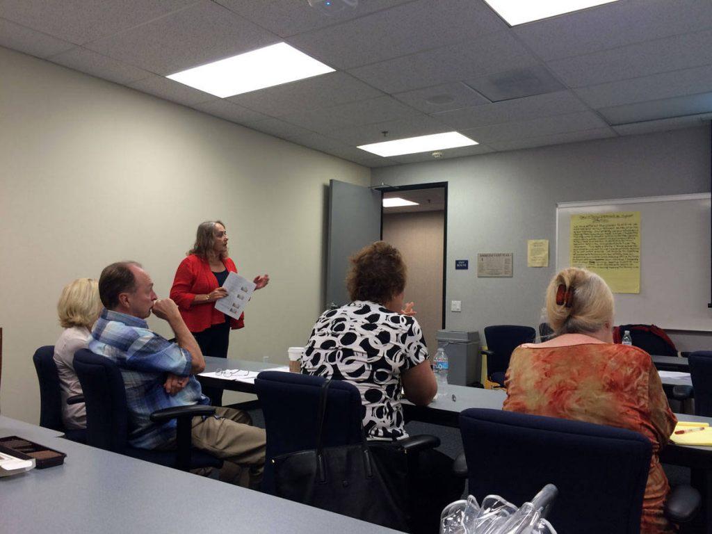 Dr. Carol Hughes (Divorce Coach/Child Specialist) presenting at a CDSOC training